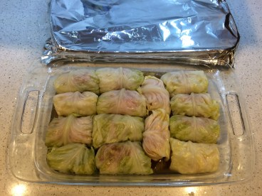 Cook cabbage rolls covered